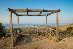 Benidorm from a hilltop viewpoint Stock Photography