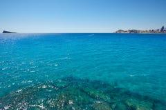 Benidorm island in Mediterranean Alicante Royalty Free Stock Image