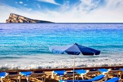 Benidorm island in Mediterranean Alicante Stock Photography
