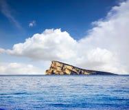 Benidorm island in Mediterranean Alicante Royalty Free Stock Photos