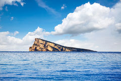 Benidorm island in Mediterranean Alicante Stock Photos