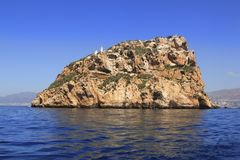 Benidorm Island north view blue sea sky Royalty Free Stock Photos