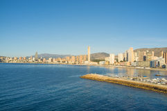 Benidorm landscape Royalty Free Stock Photography