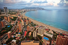 Benidorm landscape Stock Photo