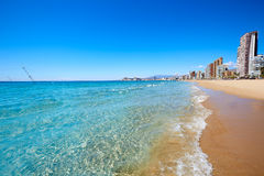 Benidorm Levante beach in Alicante Spain Royalty Free Stock Photography