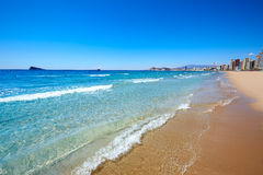 Benidorm Levante beach in Alicante Spain Stock Photography