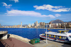 Benidorm Marina port in Alicante of Spain Stock Image