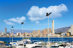 Benidorm Marina port in Alicante of Spain Royalty Free Stock Images