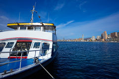 Benidorm Marina port in Alicante of Spain Royalty Free Stock Photography