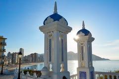 Benidorm Mirador del Castillo lookout Alicante Royalty Free Stock Photos