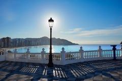 Benidorm Mirador Del Castillo punkt obserwacyjny Alicante Obraz Royalty Free