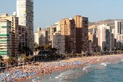 Benidorm na plaży Zdjęcia Stock
