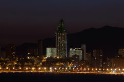 Benidorm at night Royalty Free Stock Image