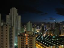 Benidorm at night Royalty Free Stock Photography