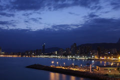 Benidorm by Night. Costa Blanca, Spain - The Famous Unusual Benidorm City Stock Images