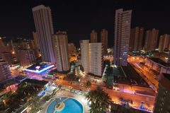Benidorm by night Royalty Free Stock Images