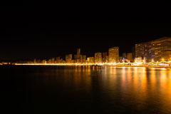 Benidorm at night Royalty Free Stock Images