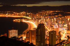 Benidorm night Royalty Free Stock Photo