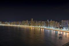 Benidorm panorama at night Stock Images