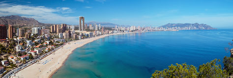 Benidorm Panorama Royalty Free Stock Image