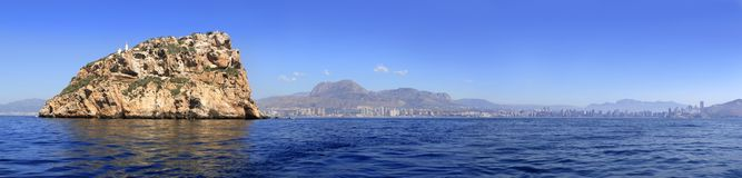 Benidorm panoramic view from island Royalty Free Stock Photos