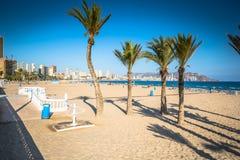Benidorm Poniente beach in Alicante Mediterranean of Spain Stock Photo