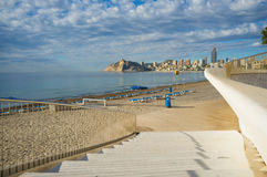 Benidorm Poniente beach Royalty Free Stock Photos