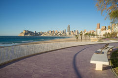 Benidorm promenade Royalty Free Stock Photo