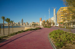 Benidorm promenade Royalty Free Stock Photos