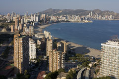 Benidorm. A resort of Spain. Panorama of the Spanish Mediterranean city from the top point Stock Images