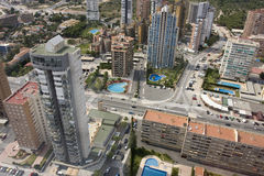 Benidorm. A resort of Spain. Panorama of the Spanish Mediterranean city from the top point Stock Image