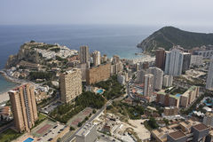 Benidorm. A resort of Spain. Panorama of the Spanish Mediterranean city from the top point Royalty Free Stock Image