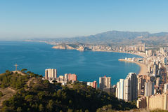 Benidorm seen from Sierra Helada Stock Photos