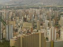 Benidorm Skyline. Close-up view of the Spanish  Little Manhattan city of Benidorm, Spain Stock Photography