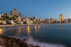 Benidorm skyline Royalty Free Stock Images