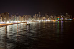 Benidorm skyline at night Royalty Free Stock Images