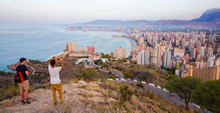 Benidorm skyline , Spain Royalty Free Stock Image