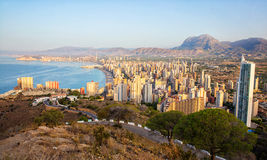 Benidorm skyline , Spain Royalty Free Stock Images
