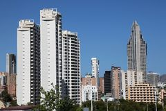 Benidorm skyskrapor Royaltyfri Fotografi