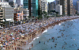 Benidorm in Spain royalty free stock photography