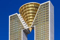 Benidorm, Spain, February 16, 2018: Intempo highest skyscraper building in Benidorm, Spain. stock photo