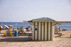 BENIDORM, SPAIN - September 15, 2013: Beach Accessibility Royalty Free Stock Photo