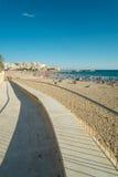 Benidorm strand Royaltyfri Bild