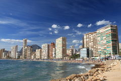 Benidorm. Sunny day in Benidorm city Stock Image