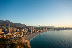 Benidorm at sunrise Royalty Free Stock Images
