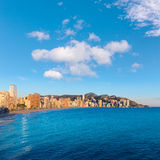 Benidorm sunset Alicante playa de Levante beach Royalty Free Stock Photography