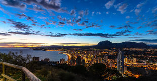 Benidorm Sunset Royalty Free Stock Photos