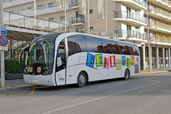 Benidorm Tour Coach Bus Travel Royalty Free Stock Images