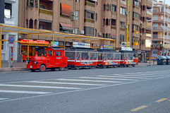 Benidorm Tourist Train Bus Tram Royalty Free Stock Photography