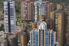 Benidorm. Un ricorso della Spagna fotografie stock libere da diritti